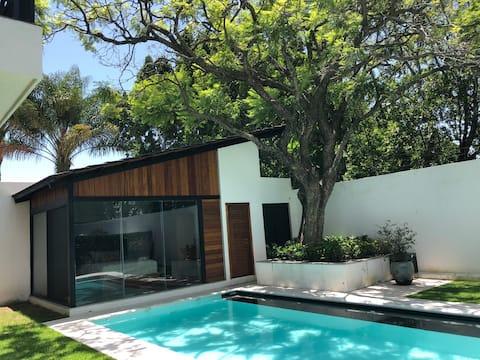 Habitación de huéspedes c/alberca en Atlixco, Pue.