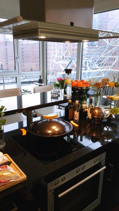 Offene Küche im Erdgeschoss