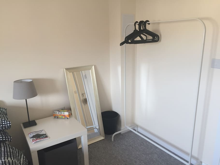 Space to hang clothes