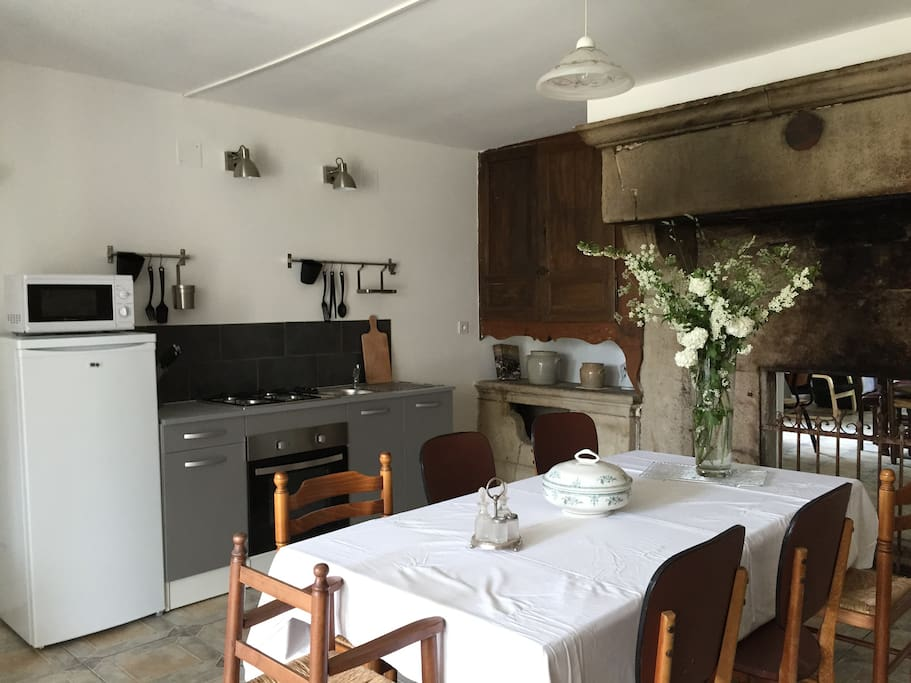 big authentic kitchen