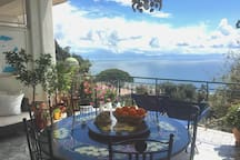 The owners' Panoramic Terrace where breakfast will be served every morning !