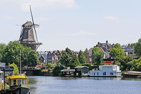 Large Central Houseboat with Windmill View - Amsterdam - Boot