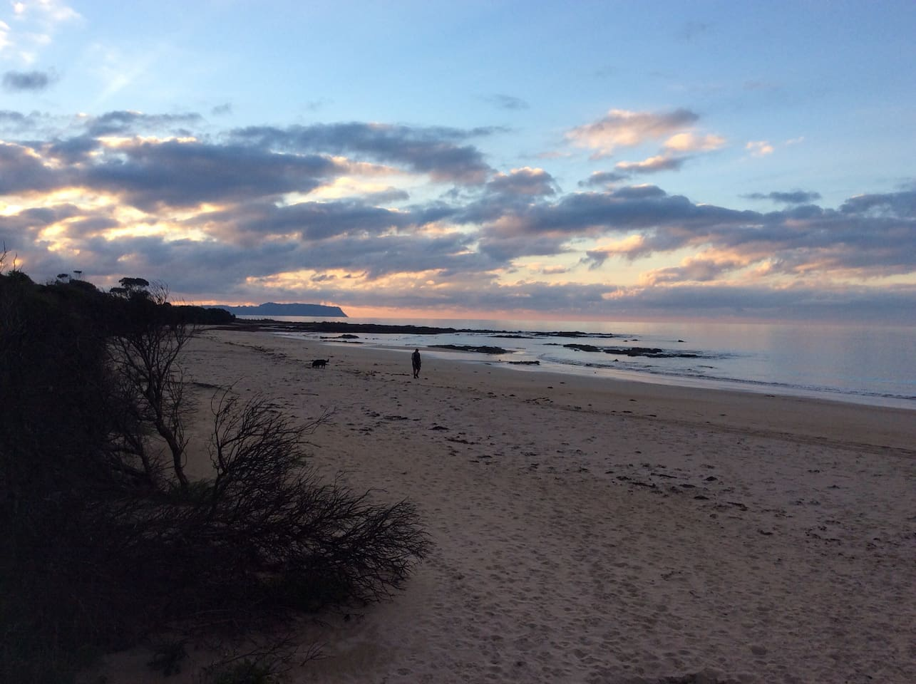 Fabulous beach at the end of the street.