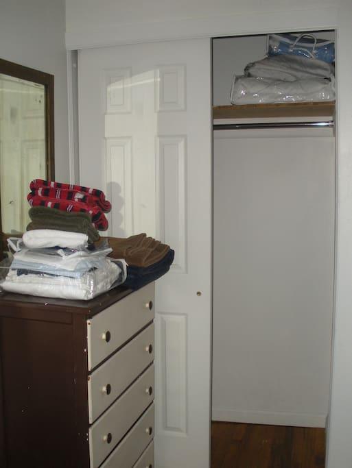 Linens and closet