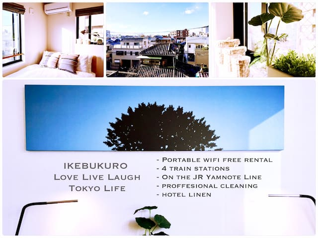 【Earlybird】IKEBUKURO&SHINJUKU ★ NEW Studio/Wifi/O4 - Toshima-ku - Apartment