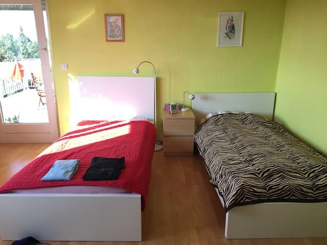 comfortable & convenient 2-bed-room in Frankfurt - Frankfurt am Main - Bed & Breakfast