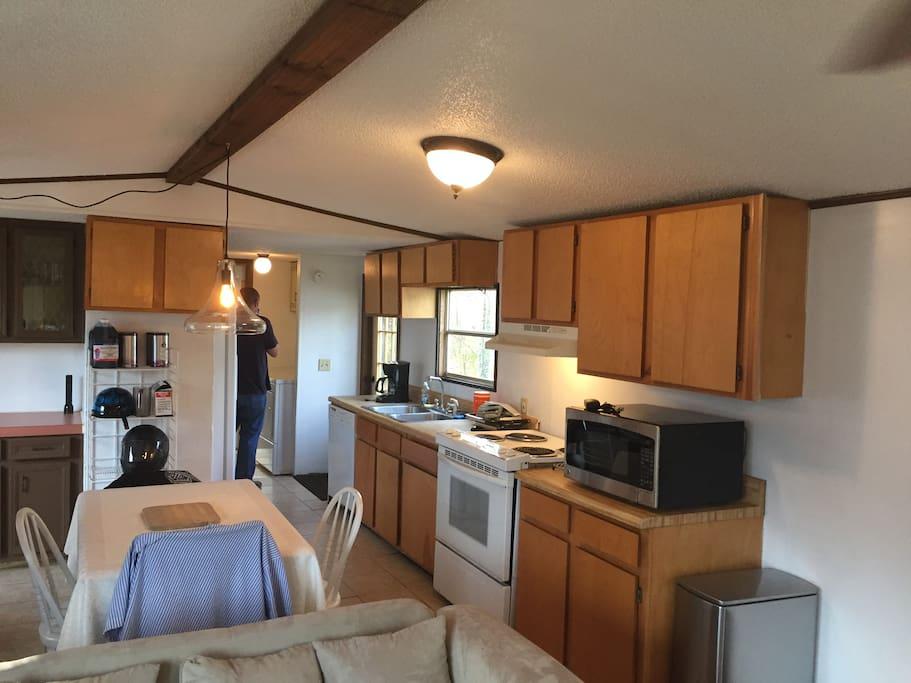Modern kitchen area