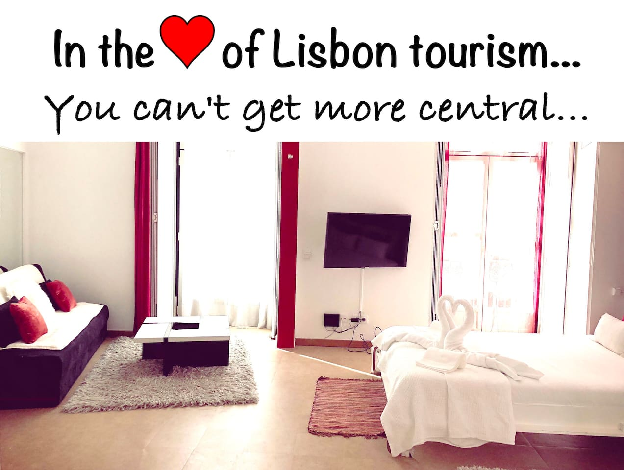 We are in the heart of Lisbon tourism... you can't get any more central. Open the balcony to see the movement on the street... hear the sound of street musicians and the bustle of people... feel Lisbon's beating heart from your home...