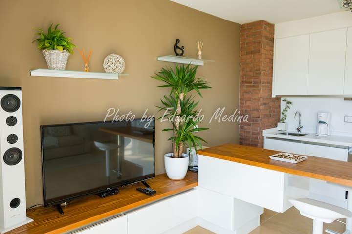 Modern apartment with ocean views