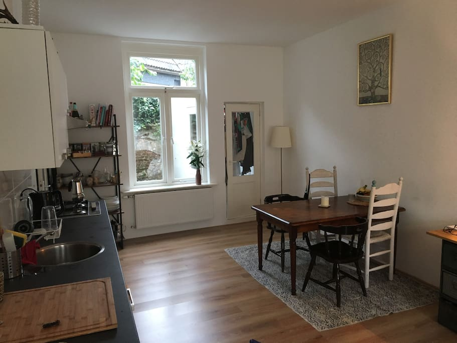 shared kitchen - dining room
