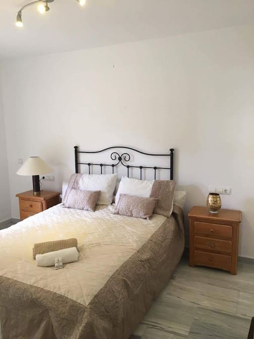 Bright sunny double room with small terrace