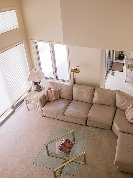 Living room from stairs view