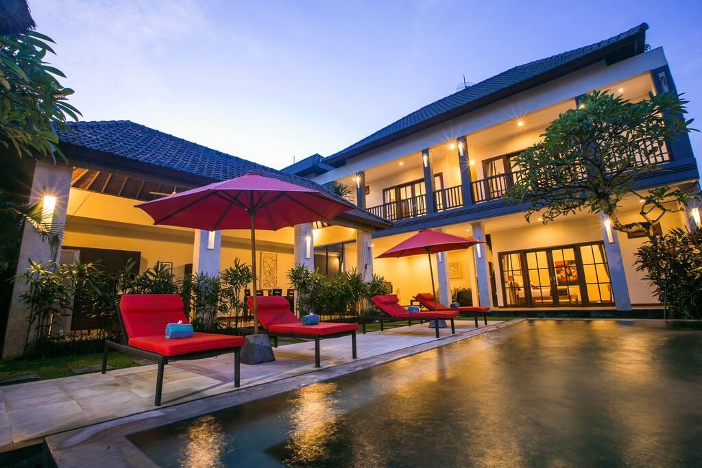 Guests entire private pool villa