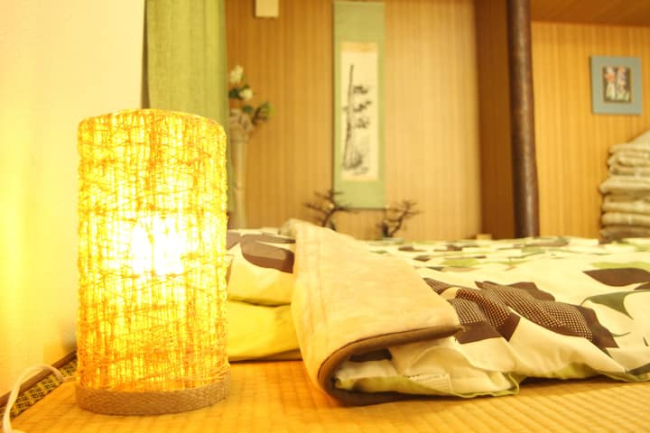 Big house 2 mins Dogo onsen Japanese Tatami house