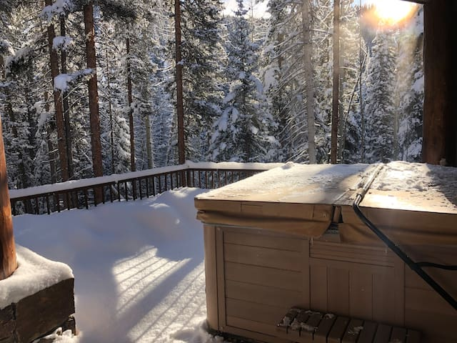 Hot tub after a snow