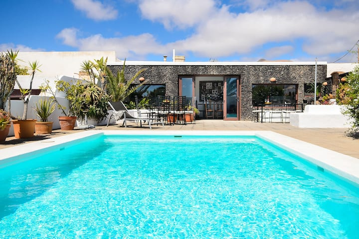 Rustic Home Short Drive from Beach with Pool, Terraces, Garden & Wi-Fi; Parking Available
