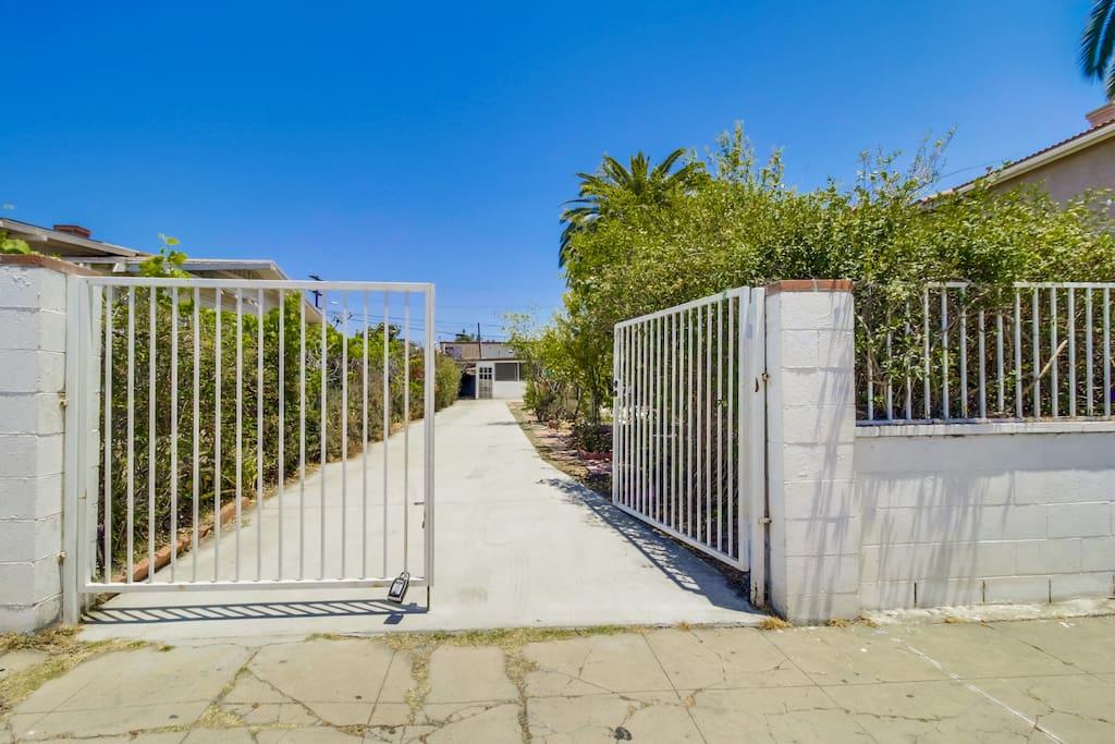 Entrance to your quaint bungalow
