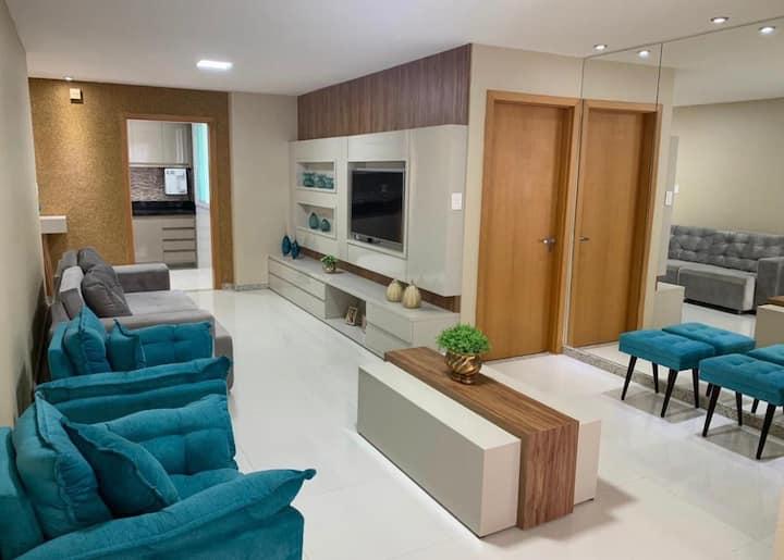 Apartamento vista para o Mar,mobiliado e decorado.