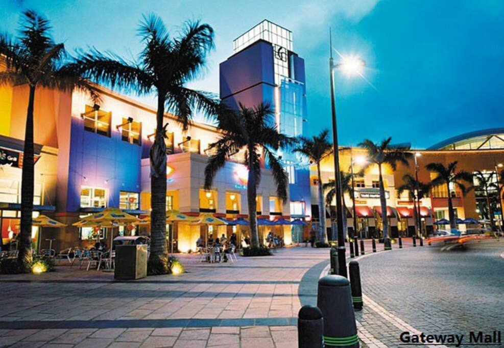 Gateway mall.  from the house to there 1km