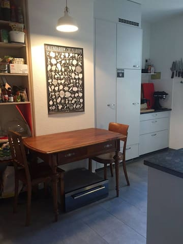 A kitchen with all extras