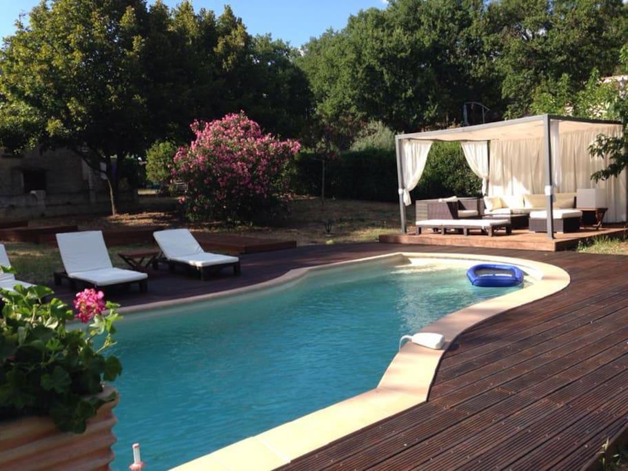 maison tr s agr able avec piscine site verdoyant villas louer barjols provence alpes. Black Bedroom Furniture Sets. Home Design Ideas