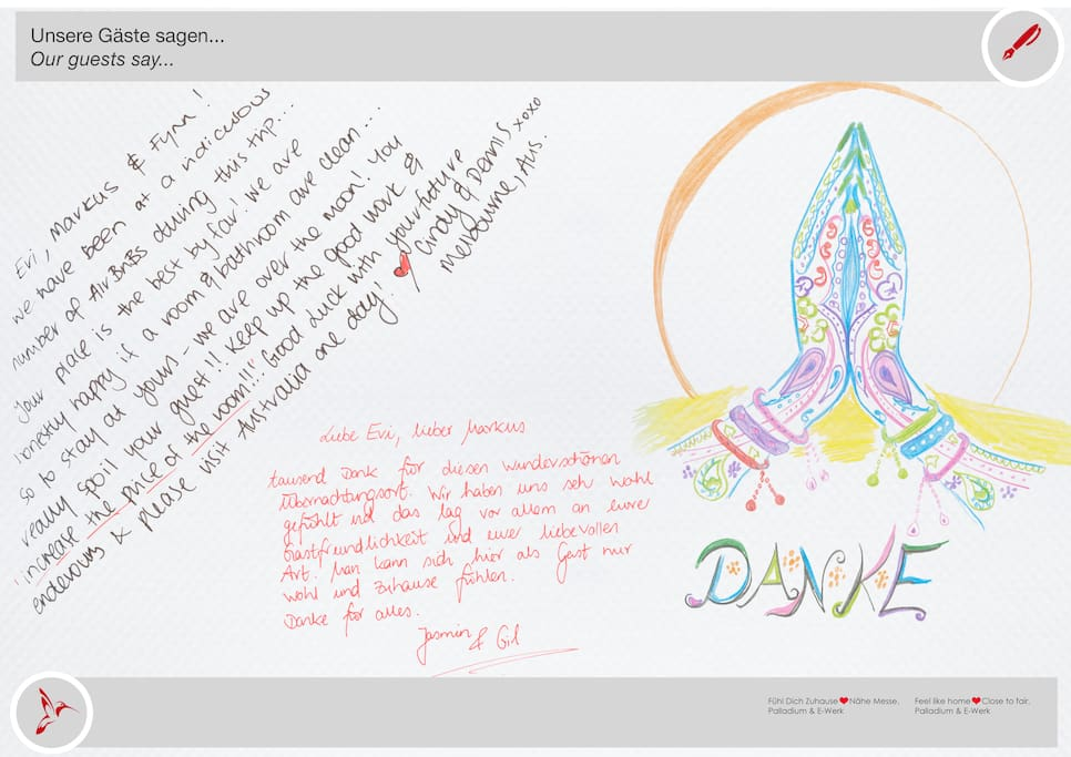 Aus unserem Gästebuch. Vielen Dank an unsere Gäste für das tolle Feedback! :) • From our guestbook. Thank you very much to our guests for the great feedback! :)