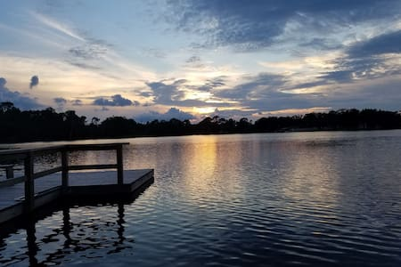 Sunsets and Mornings in Paradise on our Dock