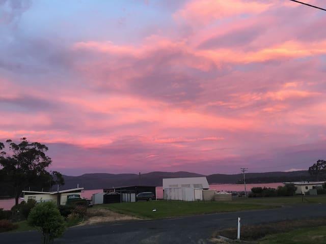 Sunset over Carnarvon Bay