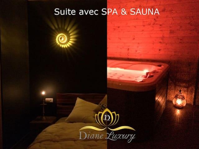 Suite privative avec SPA  et sauna pour 2 pers.