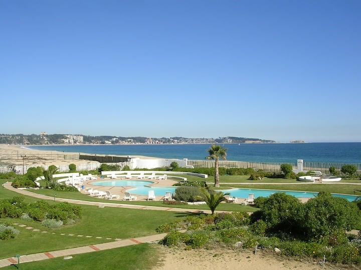 Vista increible y a pasos de la playa