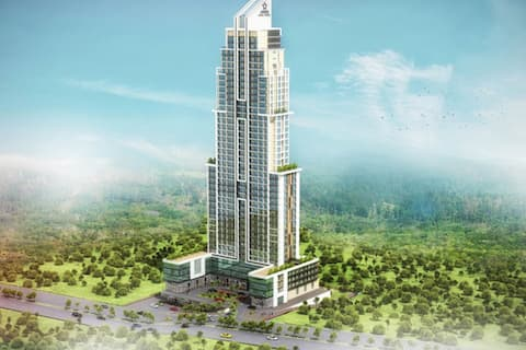 luxury residence with sea view, near torium mall