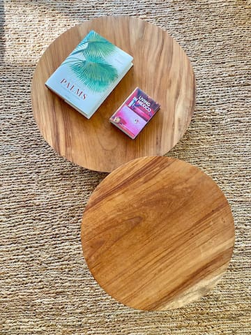Coffee tables handmade by local artisans