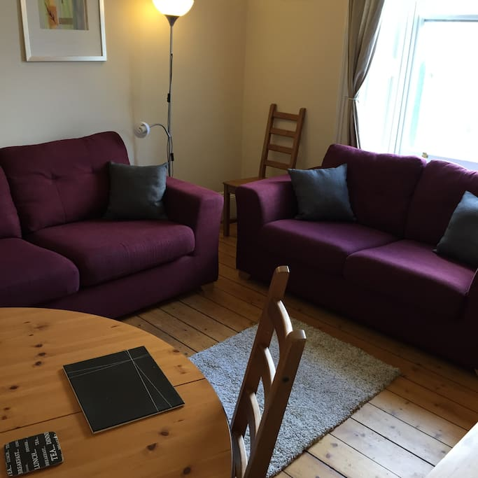 Two comfortable sofas (1 is a sofa bed)