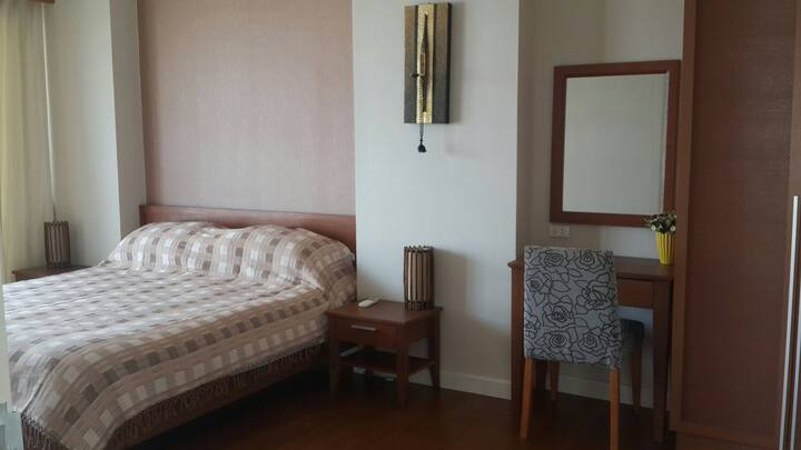 Two bed rooms unit fully furnished