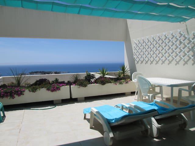 appartement   vue mer  terrasse 1 chambre piscine