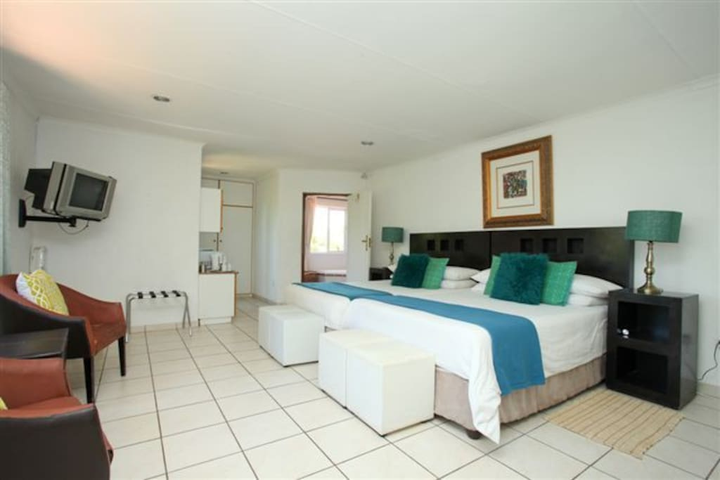 Our twin rooms, consist of 2 x Queen Size beds and full bathroom and small kitchenette ensuite