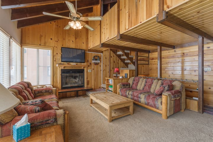 Condo Chalet 1A, Fireplace, View of Mountain, Small Private Deck