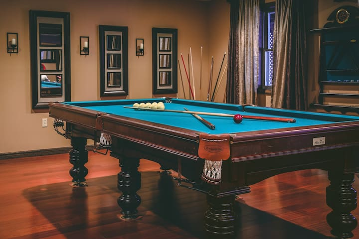 If you've never played Russian billiards, you're in for a treat! The rules and balls are a little different, so it's fun for both beginners and seasoned pool players who will enjoy learning some new tricks.