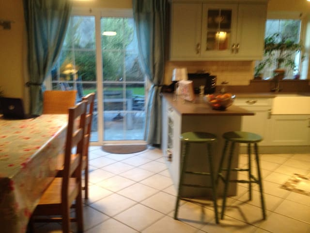 Double  room in central Tulla . Wi fi and Sky TV . - Tulla - Casa