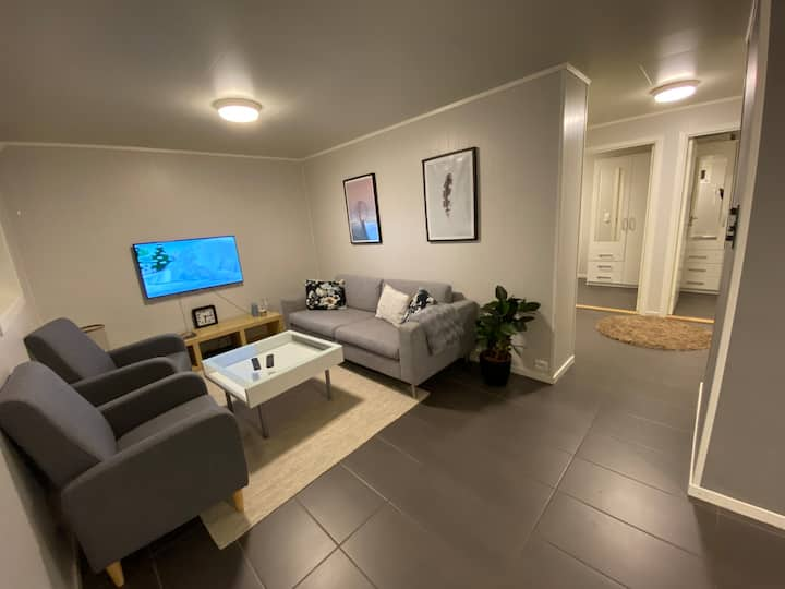 2 -bedroom apartment with private entrance.