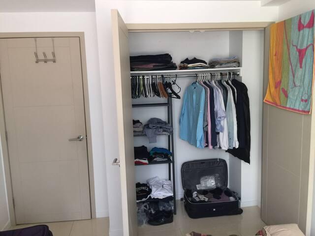wardrobe next to entrance