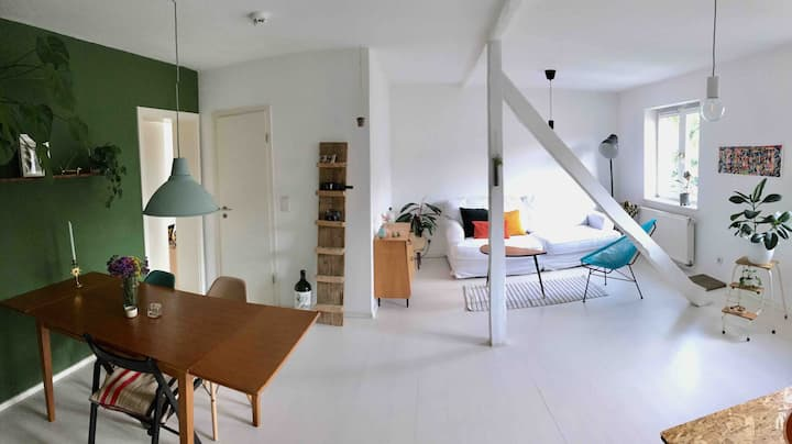 Bright loft close to city center with 2 cats