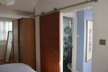 Your bedroom, showing door to bathroom