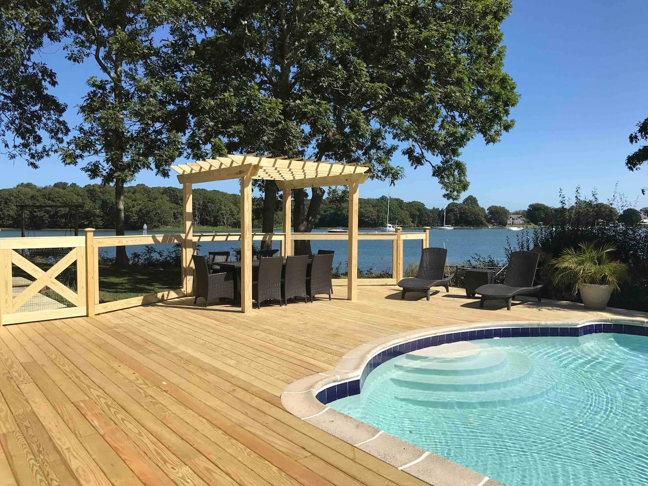 Waterfront pool/deck