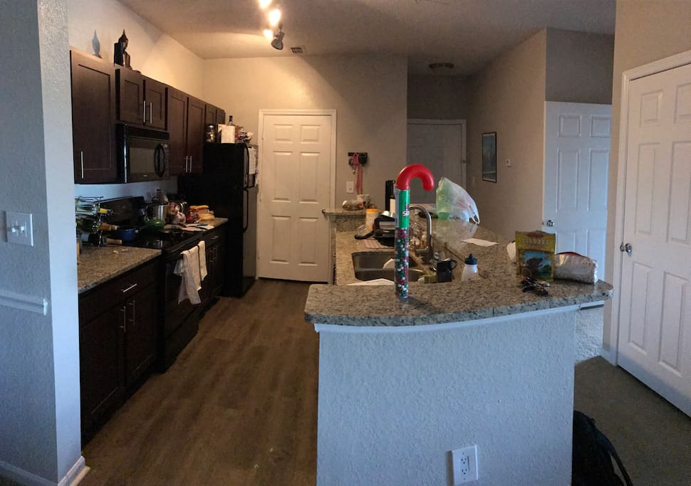 Kitchen appliances and equipment/silverware is open for use.