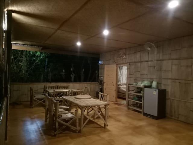 Bamboo House in Organic Farm