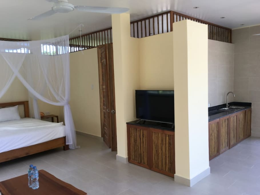 View inside bungalow