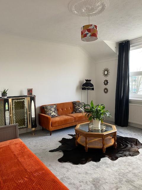 Vibrant Little Chelsea apartment.