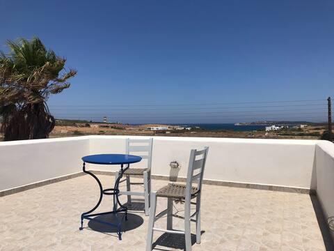 Naoussa House met uitzicht op zee