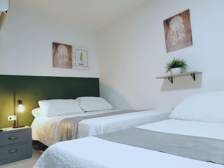 HOTEL PARÍS  habitacion cuadruple